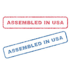 Assembled in usa textile stamps vector