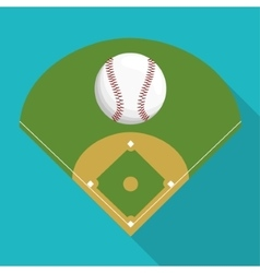 Ball and league of baseball sport design vector
