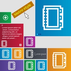 Book icon sign buttons Modern interface website vector image
