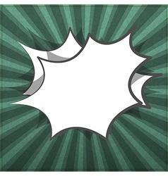 Bubbles Empty rays realistic black board in format vector image vector image