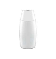 clean shampoo bottle mock up vector image