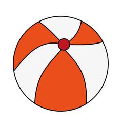 Color image cartoon beach ball toy fun vector