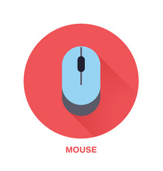 computer mouse flat style icon wireless vector image vector image