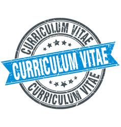 Curriculum vitae round grunge ribbon stamp vector