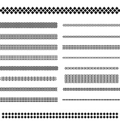Design elements - text divider line set vector