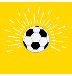 Football soccer ball with sunlight effect Flat vector image vector image