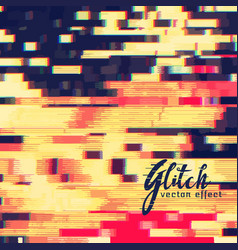 Glitch effect design background vector