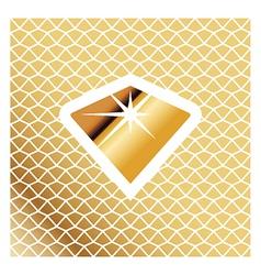 Golden Brilliant Icon vector image