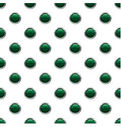 green button pattern vector image vector image