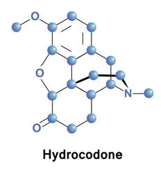 hydrocodone dihydrocodeinone opioid vector image