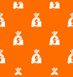 money bag with us dollar sign pattern seamless vector image