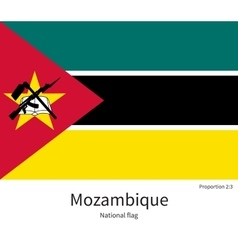 National flag of mozambique with correct vector