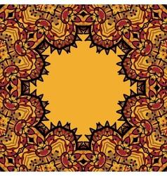 Oriental mandala frame border for text Copyspace vector image vector image