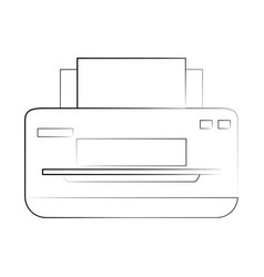 printer paper hardware vector image