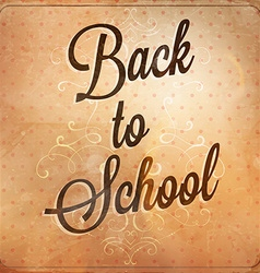 Retro back to school design vector