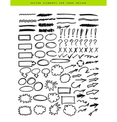 Set include markers elements vector image vector image