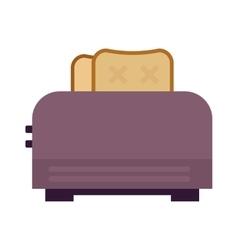 Toast popping toaster bread breakfast food kitchen vector image