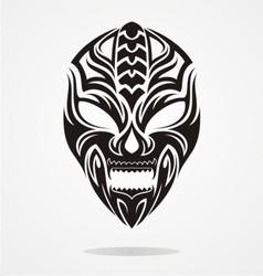 Tribal Evil Mask vector image