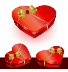 vector heart gift box vector image vector image