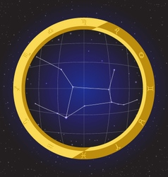 Virgo star horoscope zodiac in fish eye vector