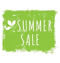 Summer sale ink background with leaves and vector image