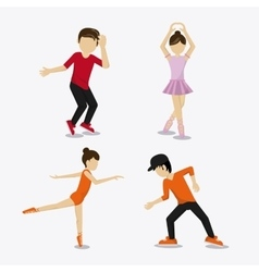 Dance studio avatar dancer design vector