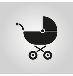 Pram icon baby buggy design baby carriage vector
