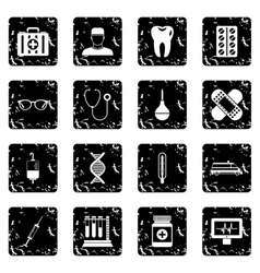 Medicine icons set simple style vector