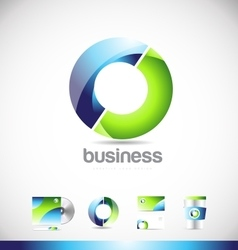 Corporate business circle logo icon design vector image