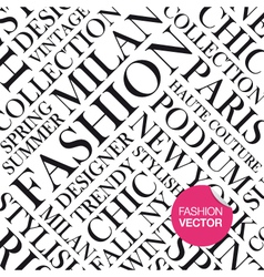 Fashion background words cloud vector