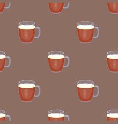 Beer glass seamless pattern celebration vector