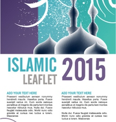 Leaflet design vector