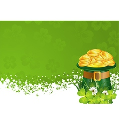 Patrick day frame vector