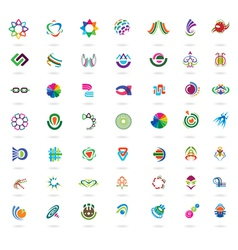 Set of abstract colorful design elements and icons vector