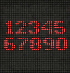 Led display scoreboard dot grunge digits vector