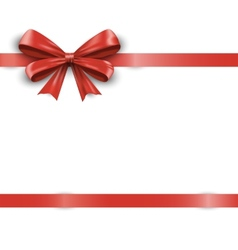 Red ribbon with bow isolated on white background vector