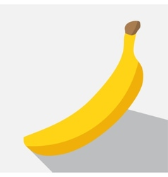 Banana and long shadow vector