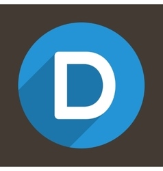 Letter d logo flat icon style vector