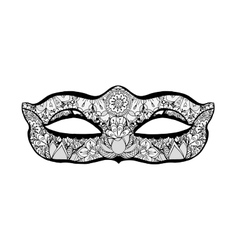 Hand drawn mask vector