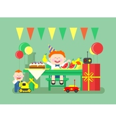 Holiday child birthday vector