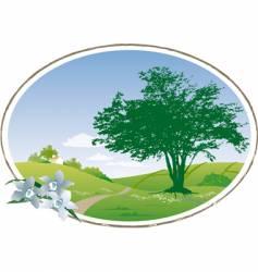country scene vector image