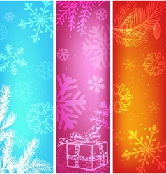 abstract christmas banners set vector image