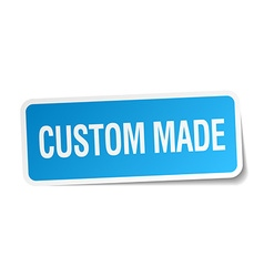 Custom made blue square sticker isolated on white vector
