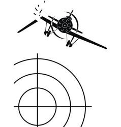 air combat of military aircraf vector image vector image