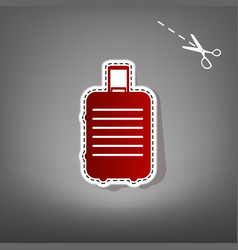 baggage sign red icon with vector image vector image