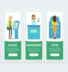 Banking service set atm registration and payment vector