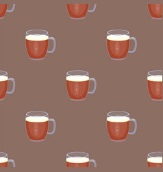 Beer glass seamless pattern celebration vector