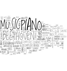Beethoven text word cloud concept vector