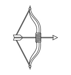 Bow and arrow icon outline style vector