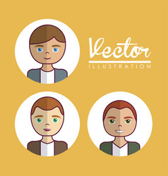 Cartoon people design vector